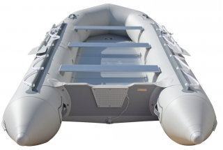15' Saturn Inflatable SD460 Budget Boat - Grey Rear View