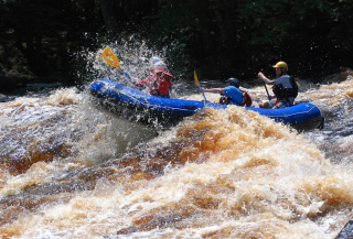 Customer Photo - 14' Saturn Whitewater Raft in Huge Whitewater
