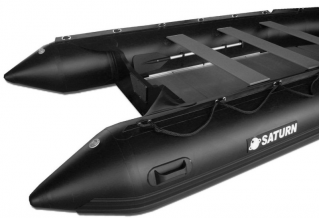 15' Saturn Inflatable Boat - SD470 - w/ Aluminum Floor - Black