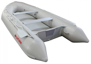 2020 13' Saturn Dinghy SD385 (Light Grey) with Air Floor
