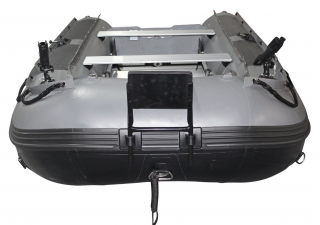 12' Saturn Fishing Boat FB365 Dark Grey - Front View with Trolling Motor Mount