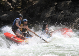 "Guide Photo - 14'6"" Saturn Whitewater Raft RD442 - Class IV Whitewater Action"