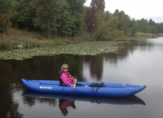Customer Photo - 14' Saturn Ocean Kayak on the Lake