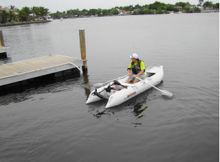 Customer Photo - Rowing Older Version 12' Saturn KaBoat SK396 - Light Grey