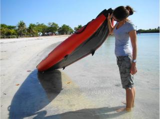 Customer Photo - 13' Saturn Inflatable Expedition Kayak RK396 - Bottom View