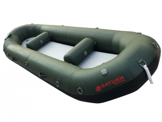 "2021 12'6"" Saturn Triton Whitewater Raft - Green - Side View"