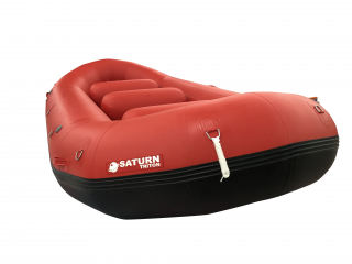 """2021 14'8"""" Red Saturn Triton Whitewater Raft with Leafield C7 Inflation and PRV Valves"""