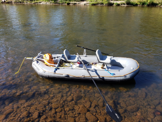 "Customer Photo - New 12'6"" Saturn Whitewater Raft"
