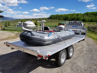 "12'6"" Saturn Triton Raft with Custom NRS Frame Package"