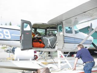 Customer Photo - Transporting the 15' Saturn KaBoat via Plane