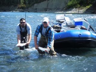 "Guide Photo - 14'6"" Saturn Whitewater Raft RD442 - One of our many fishing guides"
