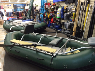 "Dealer Photo - 14'6"" Saturn Whitewater Raft RD442 - Outfitter Floor with NRS Fishing Frame Package"