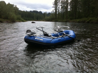 "Fishing Guide Photo - 14'6"" Saturn Whitewater Raft RD442"