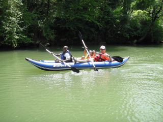 Customer Photo - 13' Saturn Whitewater Kayak WK396 Blue