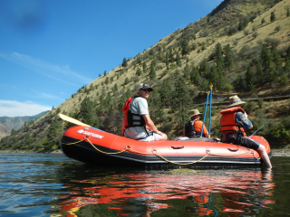 Customer Photo - 14' Saturn Whitewater Raft - Salmon River Canyon Float