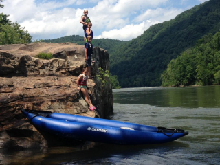 Customer Photo - 13' Saturn Inflatable Expedition Kayak RK396 in River