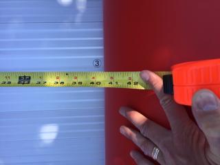 16' Saturn XHD488F Inflatable Rescue Boat - Tube Diameter Measurement