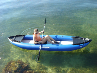 Customer Photo - 13' Saturn Inflatable Expedition Kayak RK396 -