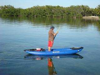 Customer Photo - 13' Saturn Inflatable Expedition Kayak RK396 - Standing on the Rigid Air Floor is Simple