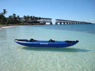 Customer Photo - 13' Saturn Inflatable Expedition Kayak RK396 - Florida Sun