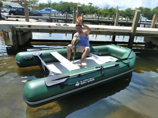 11' Saturn Inflatable Boat SD330W - Fishing