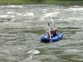 Customer Photo - 13' Saturn Inflatable Expedition Kayak RK396 - Light River Kayaking