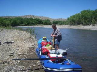 Customer Photo - 12' Saturn Raft/Kayak - RD365 BLUE w/ NRS Custom Frame