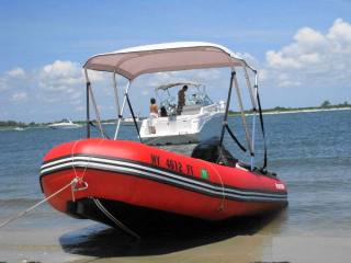Customer Photos - 12' Saturn SD365 Inflatable Boat with 4 Bow Bimini Top