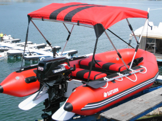 Customer Photos - 12' Saturn SD365 Inflatable Boat with Bimini Top