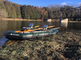 "Brand New 2017 12'6"" Saturn Whitewater Raft - Customer J. Campbell"