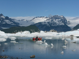 Customer Review Photo - 14' Saturn Cataraft (CT430) Tubes on Glacial Water in Alaska
