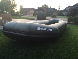 "2017 12'6"" Saturn Soloquest Self-Bailing Raft"