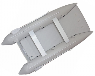 2021 12' Saturn Catamaran - Light Grey - Top View