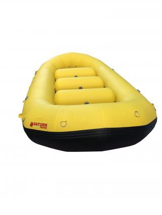 "2021 13'6"" Saturn Triton Whitewater Raft - Yellow"