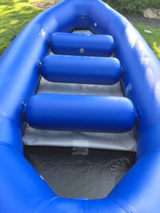 2016 14'6'' Saturn Whitewater Raft - Showing 1.5mm PVC Black Floor and Connection