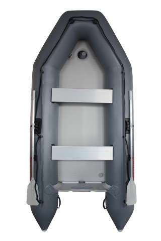2020 11' Saturn SD330 Dinghy (Dark Grey) With Upgraded C7 Style Inflation Valves - Top View