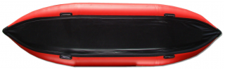 13' Saturn Inflatable Expedition Kayak - Bottom Showing Extra 2nd PVC Protection Layer in Black