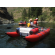 """15'6"""" CT457 Saturn Cataract Tubes with NRS Rowing Frame By Saturn Rafts - Rear View"""