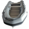 14' Saturn Inflatable Boat - Gun Metal Gray (Alum. Floor Upgrade Not Shown)
