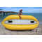"8'6"" Saturn Inflatable River Kayak - Showing Self-Bailing Floor and Detachable Fins"